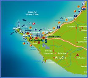 mapa Bahía de Santa Elena