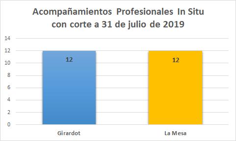 Seguimientos realizados a 31 de Julio de 2019.